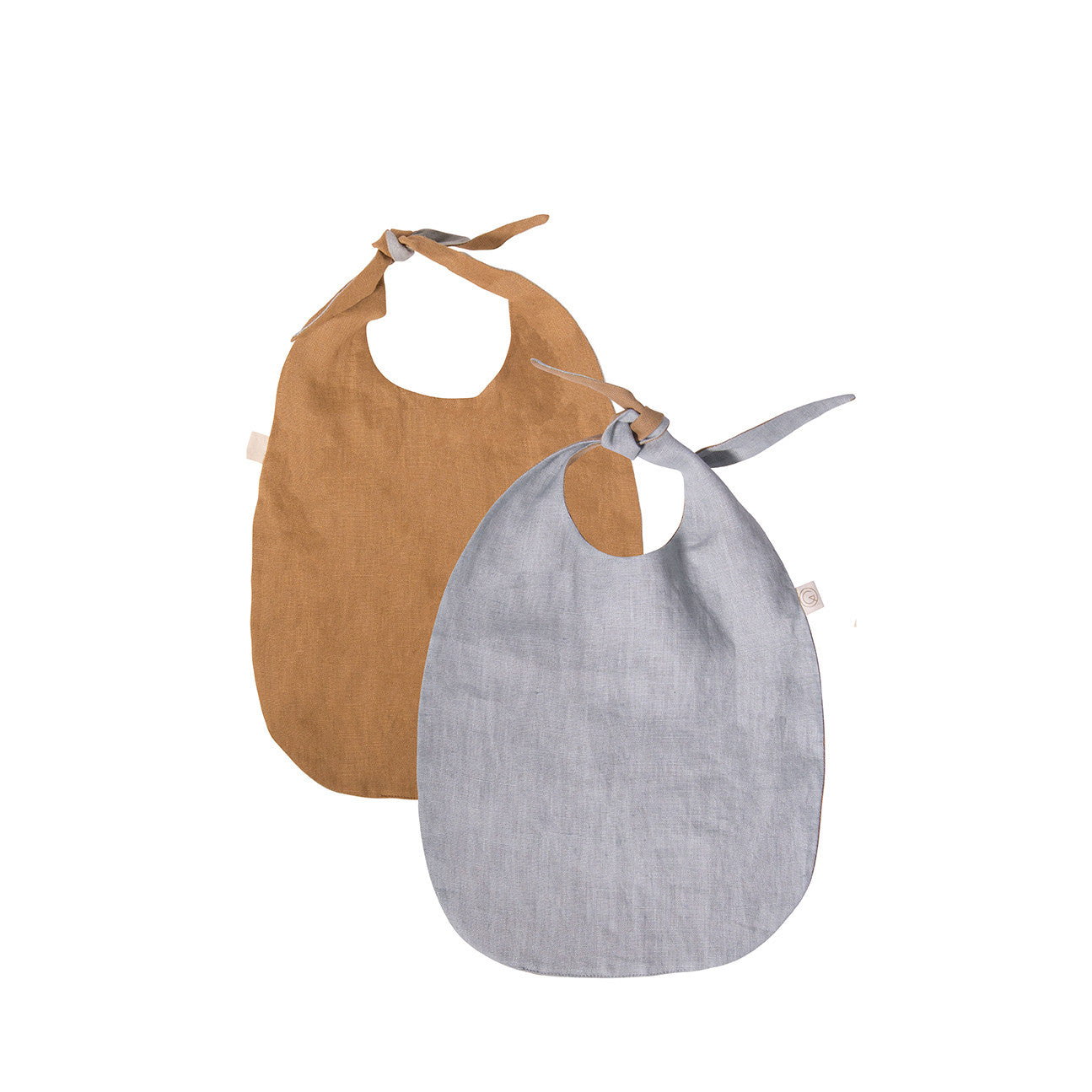 Double-Sided Bib - LINEN (Brown and Grey)