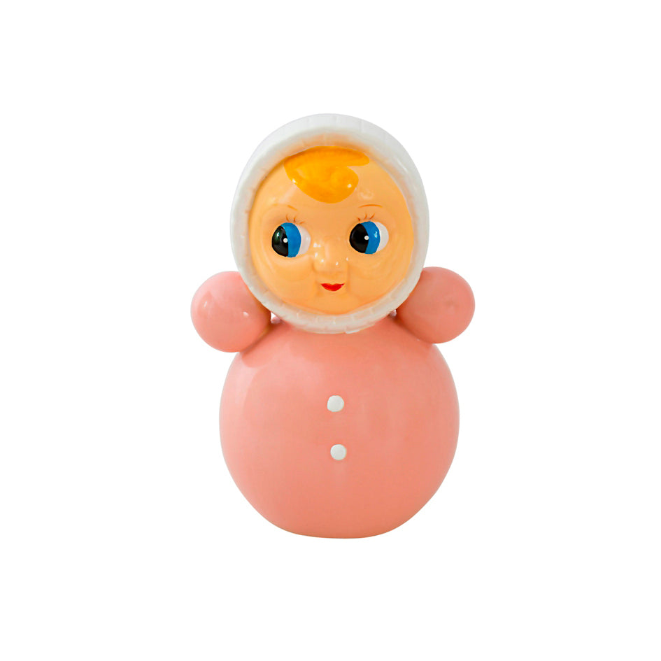 Money Bank Doll Ceramic Pink