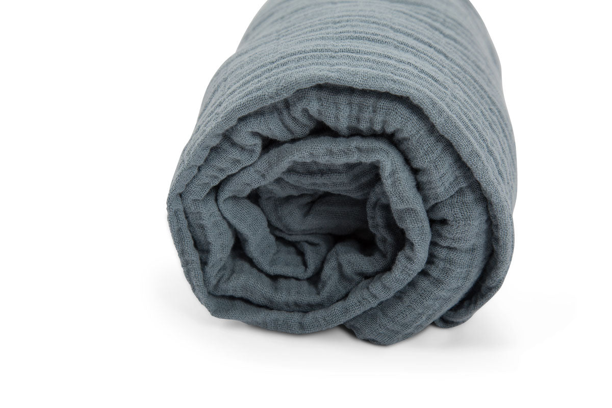 Fitted Sheet - Grey Blue
