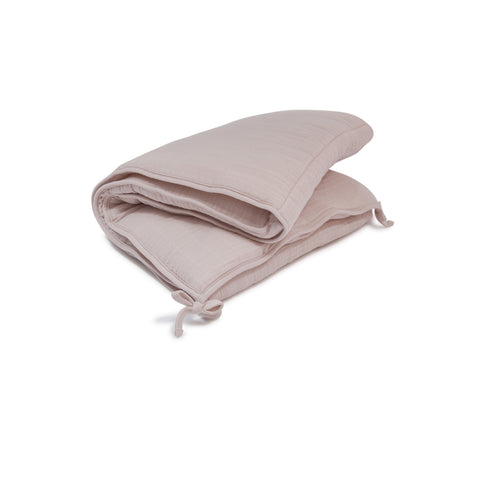 Baby Bed Bumper - Powder Pink