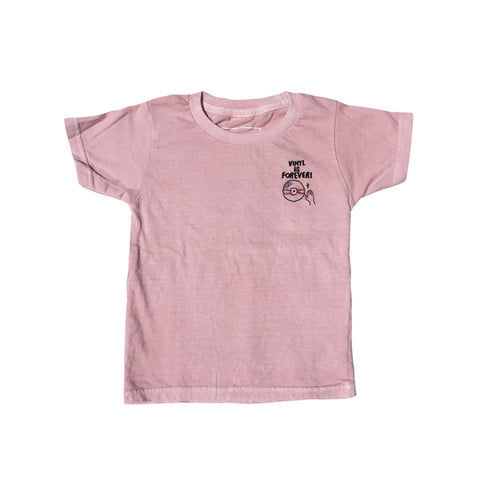Pigment Dyed Embroidered T-Shirts (Pink)