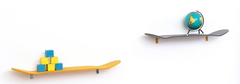 Etagère skateboard shelf  - Yellow