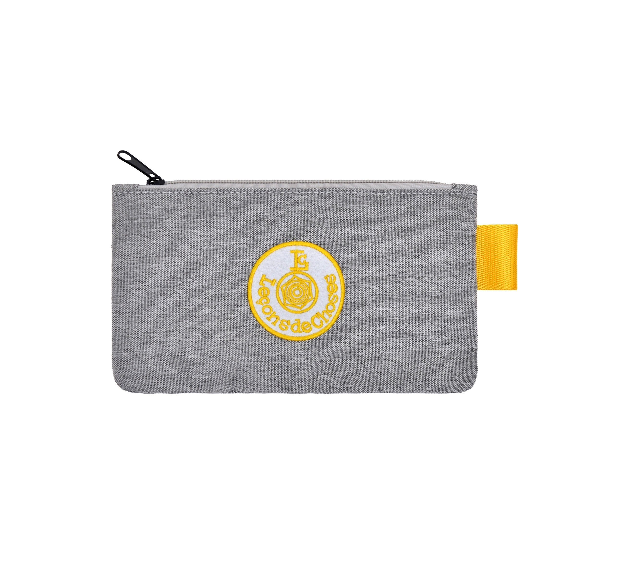 Pencil Case - Grey and Yellow