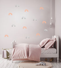 Wall Stickers - Rainbow (Silver & Pink)