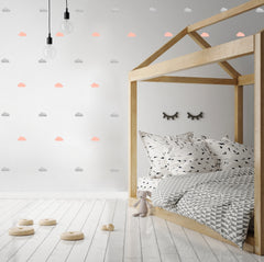 Wall Stickers - Clouds (Pink & Silver)