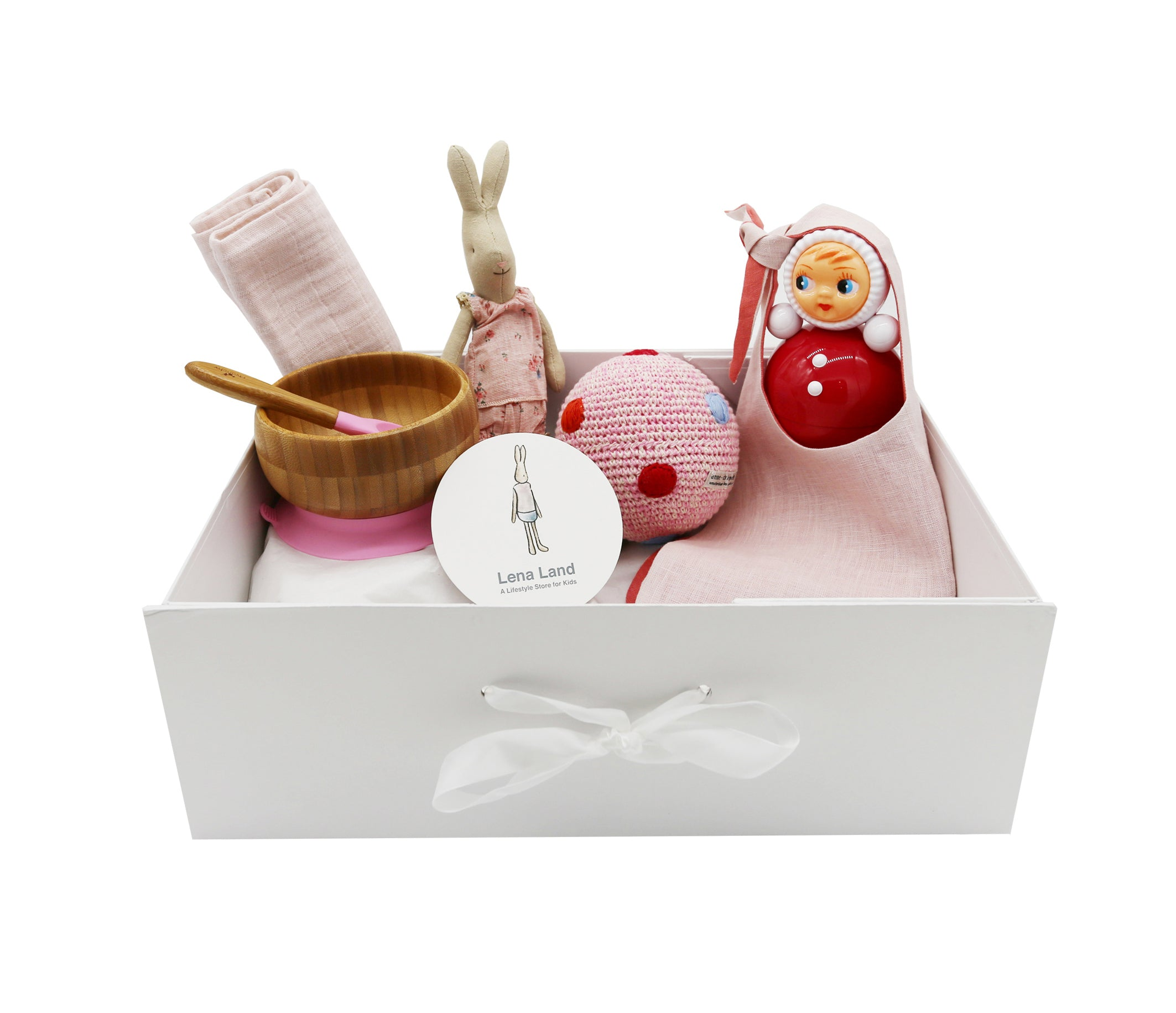 Hamper for Baby Girl - 6 items set