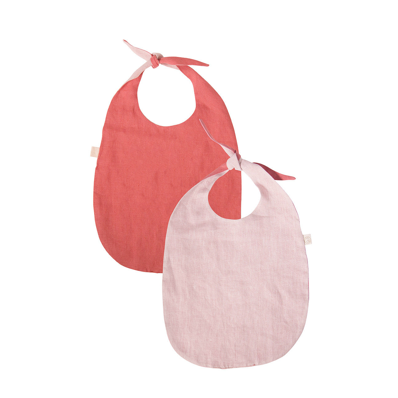 Double-Sided Bib  - LINEN (Red and Pink)