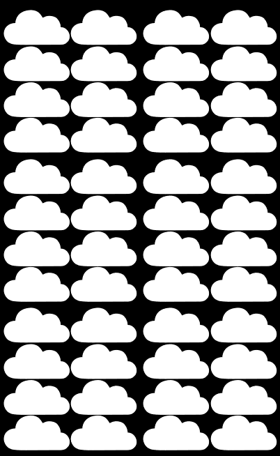 Wall Stickers - Clouds (White)