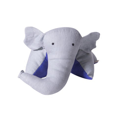 Doudou Cushion - LINEN (Light Blue and Blue)