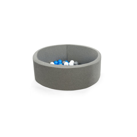 Ball Pit with 200 Balls - Grey 30cm