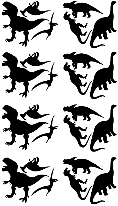 Wall Stickers - Dinosaurs (Black)