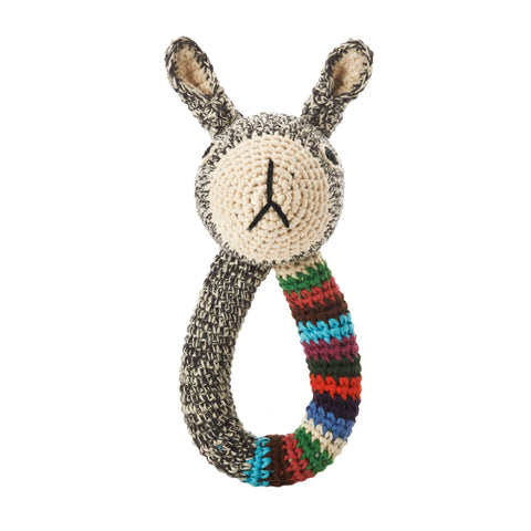 Rabbit Ring (Grey with stripe)