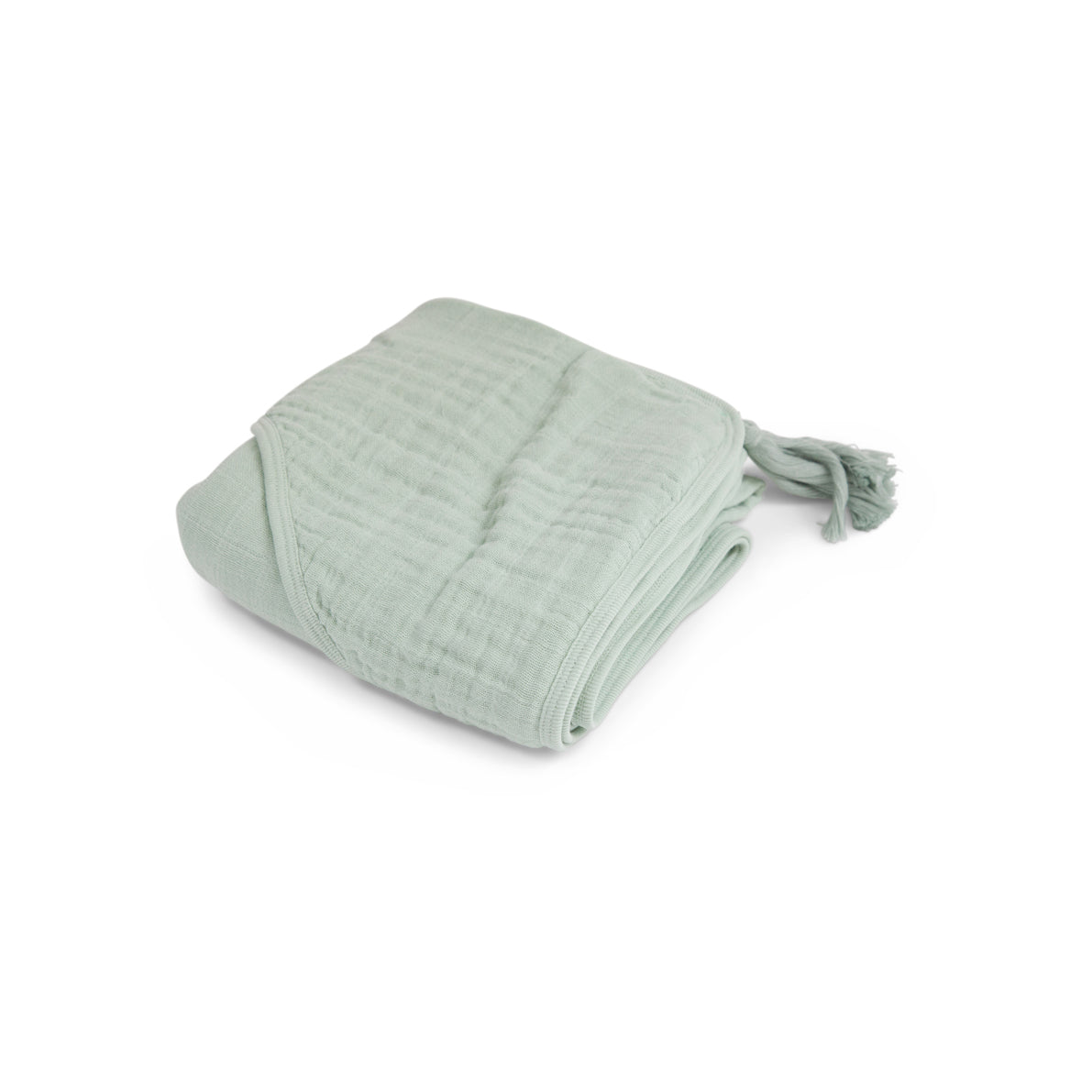 Baby Hooded Towel in Muslin - Green