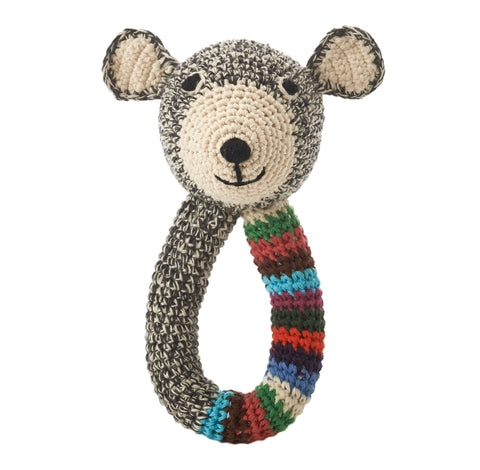 Teddy Ring (Grey with stripe)