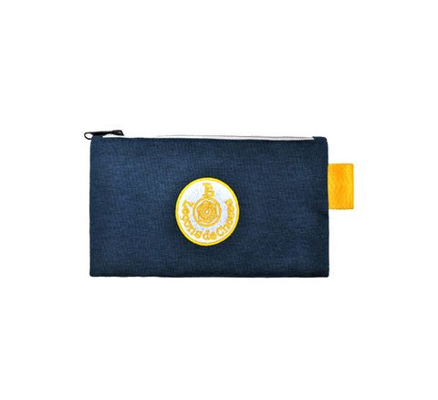 Pencil Case - Dark Blue and Yellow