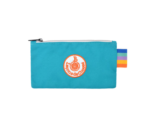 Pencil Case - Turquoise and Orange
