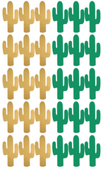 Wall Stickers - Cactus (Gold & Green)