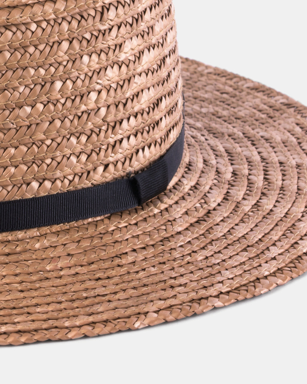 Harvey Amber - Classic Summer Straw Boater Hat - Will   Bear 66b22655ccfc
