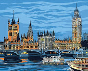 A Night on the Thames - Paint by Number kit