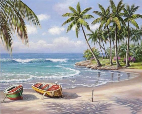 Beach Morning - Paint By Number Kit