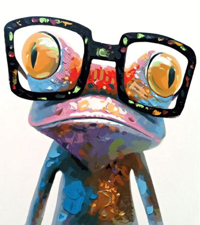 Geeky Frog - Paint By Number Kit