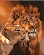 Lion Love - Paint By Number Kit
