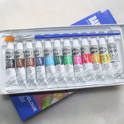 12 Colour Acrylic Paint Set