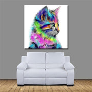 Rainbow Cat - Paint by Number kit