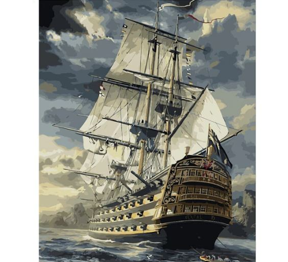 Sailing Storm - Paint by Number kit
