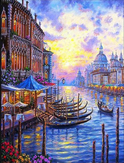 Venice Morning - Paint By Number Kit