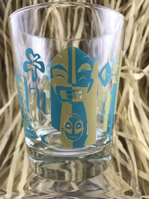 Mookie Sato Mai Tai Glass for The Hukilau 2014  Ltd Edition (blue & gold)