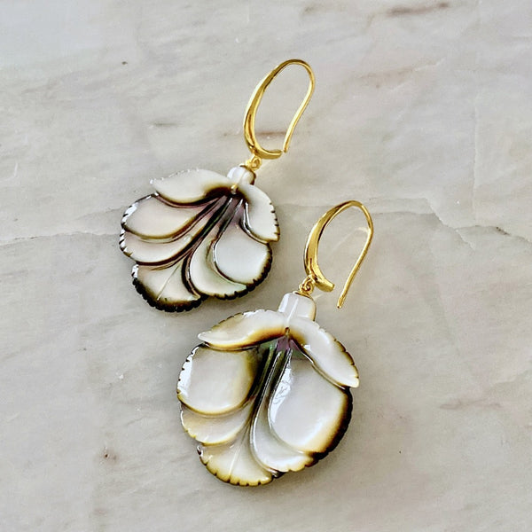 Black Mother of Pearl Earrings