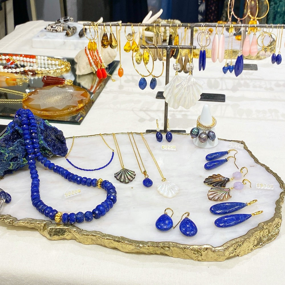 Lapis Lazuli Necklace and display