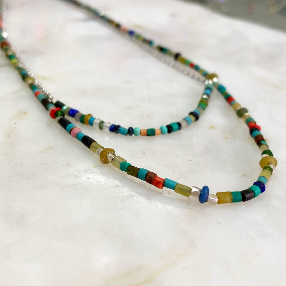 Turquoise Silk Road Necklace