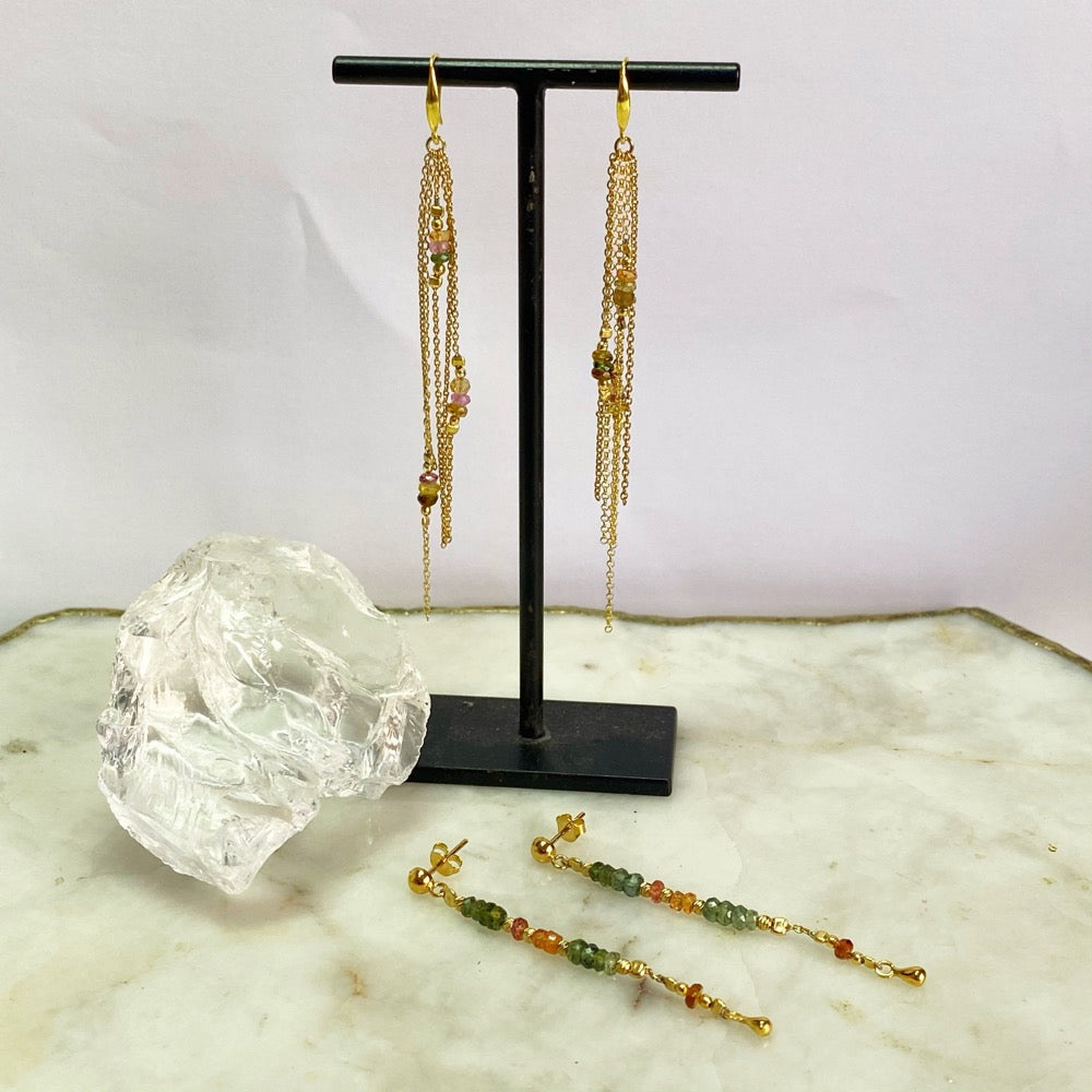 Ariu Watermelon Tourmaline Earrings