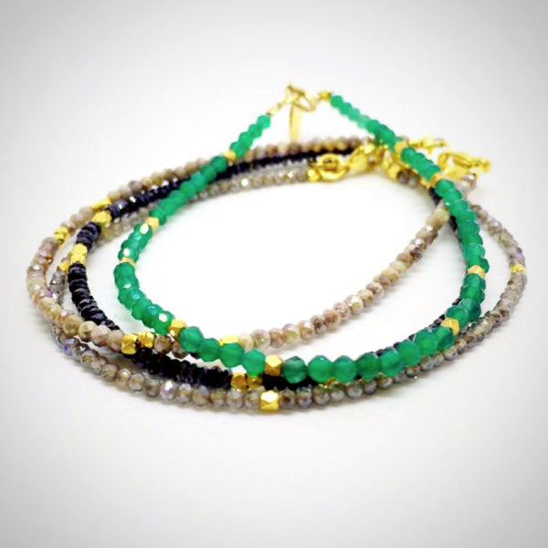 Green Onyx Tiny Beaded Bracelet