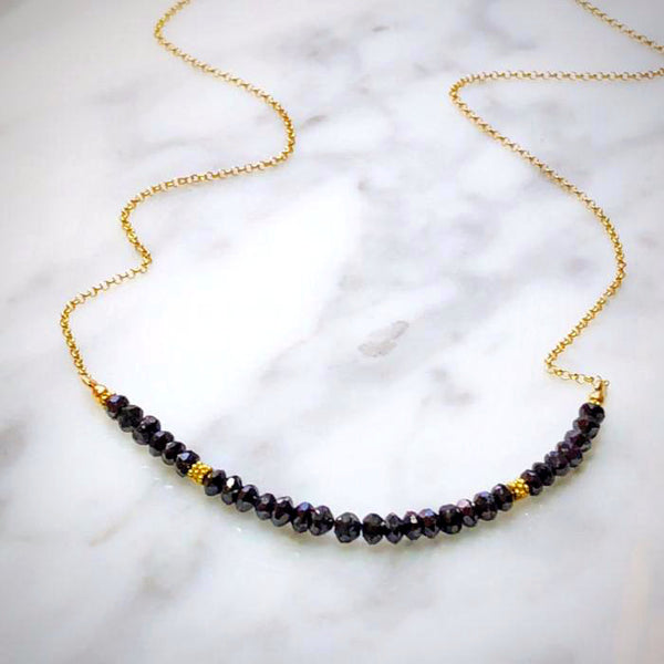 Black Diamonds Chain Necklace