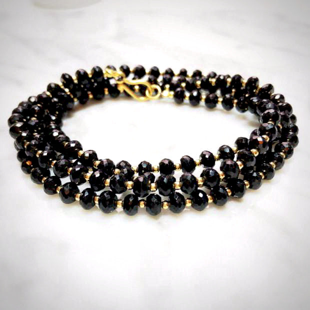 Black Spinel Beaded Necklace