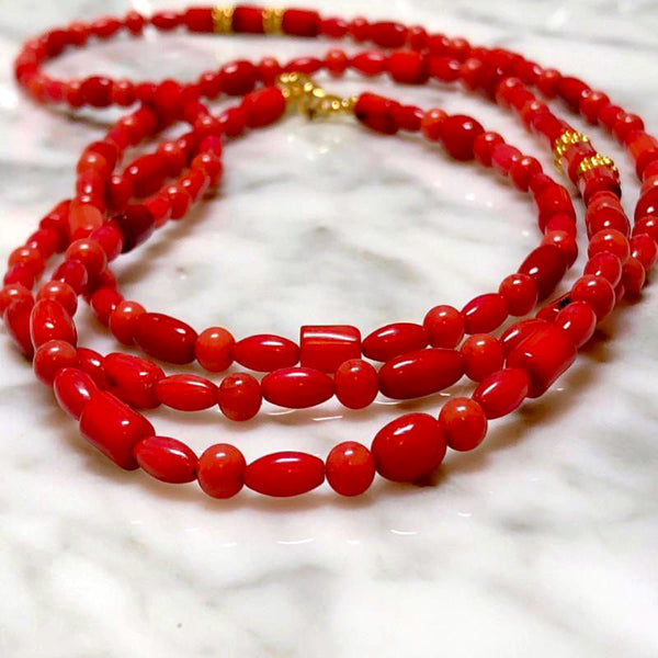 Antique Corals Long Necklace