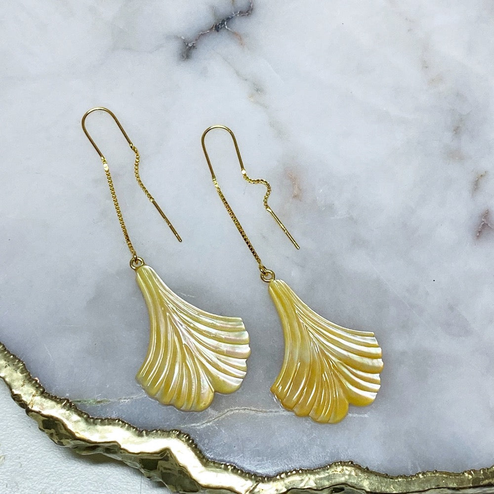 Small Mermaid Tail Threader Earrings