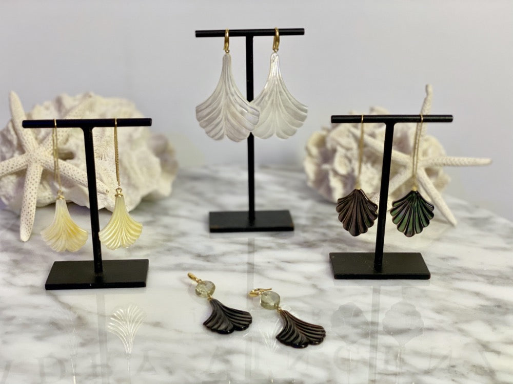 Fan Shell Threader Earrings