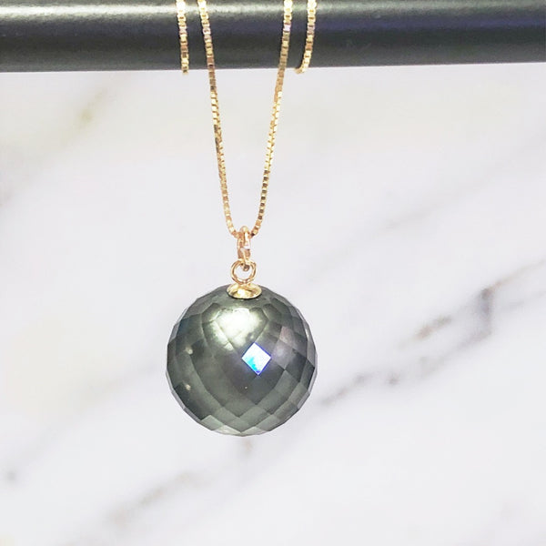 Faceted Tahitian Pearl Pendant