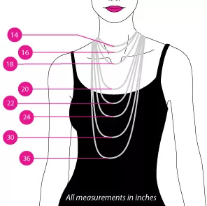 WOMEN'S STANDARD NECKLACE SIZES