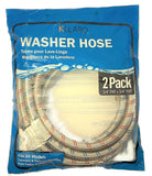 Stainless Steel Washing Machine Hoses with Elbow - Color Coded