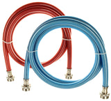 Triple-Layer Washing Machine Hoses - 6 Foot - Color Coded