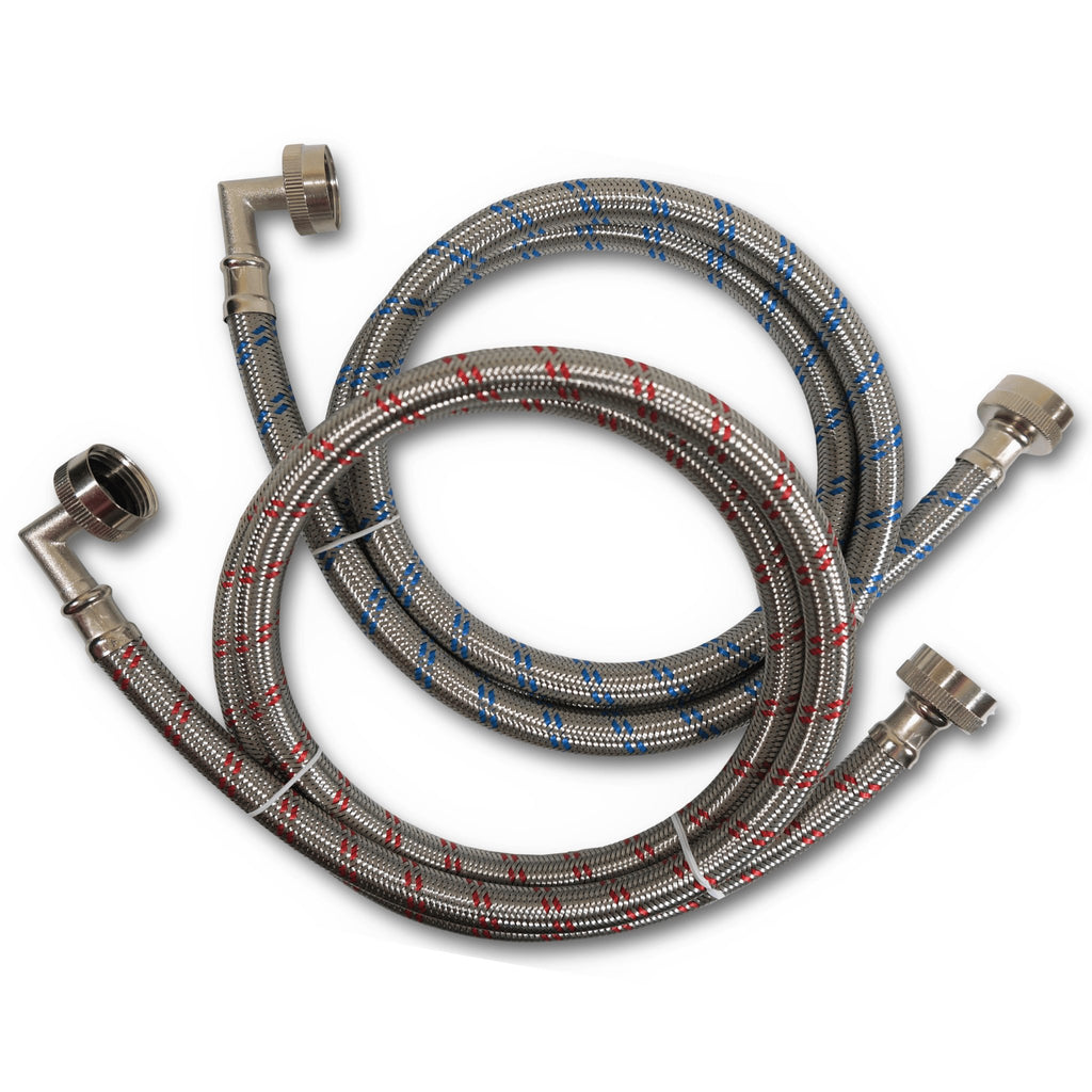 2 Pack - 2 FT Hot Water Heater Connector Hose Stainless Steel
