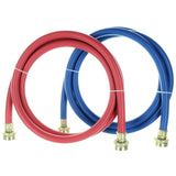 Rubber Washing Machine Hoses - 6 Foot - Color Coded