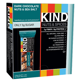 KIND Nuts & Spices, Dark Chocolate Nuts & Sea Salt