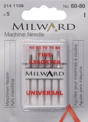 Milward sewing machine needles - Universal - Fine Assorted