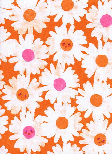 Cotton + Steel - Happy Garden Orange - 0037-01 (Trinket collection)